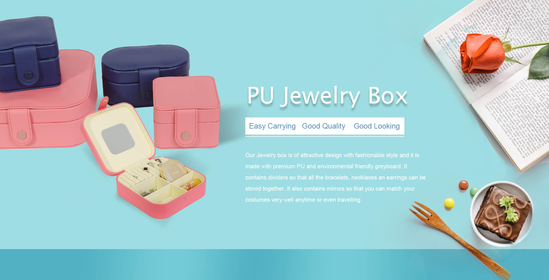 PU Jewelry Box: Easy Carrying, Good Quality, Good Looking.