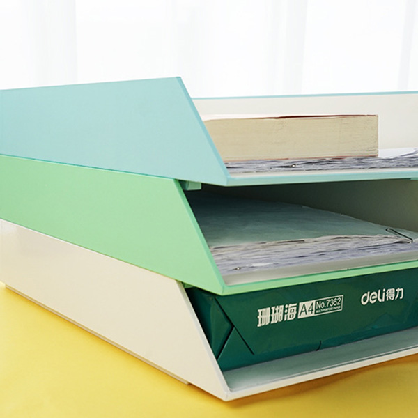 Rubberized laminated paper document tray
