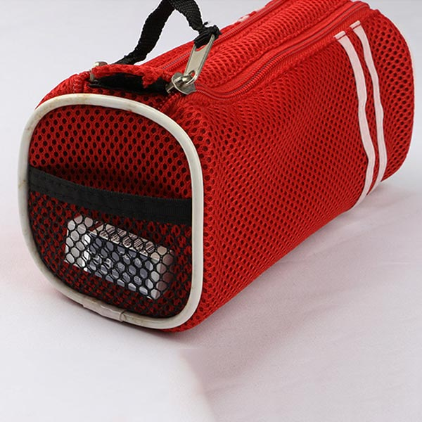 double-zippered pencil pouch