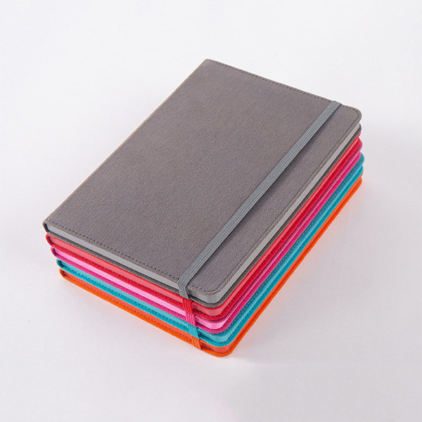 Canvas A5 colour edged hardcased notebook