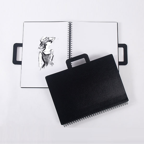 A3 Book covering material removable-cover wire-o sketchbook with handle